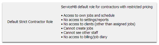 Strict Contractor Role