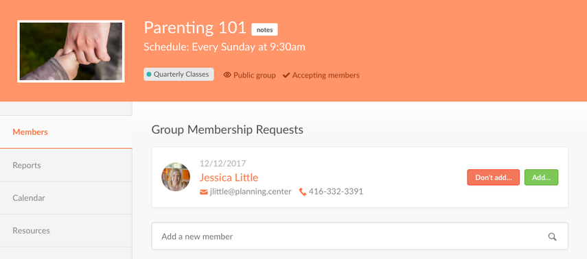 allow member on group page