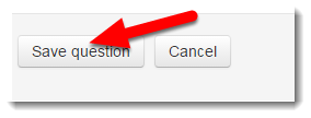 Save question button is selected.