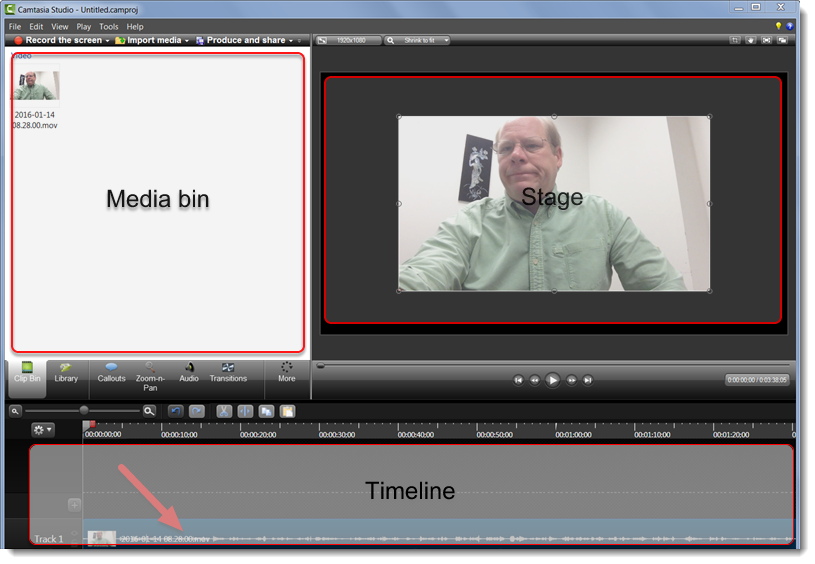 Rotate an ipad video in camtasia studio the video is now on the timeline ccuart Gallery