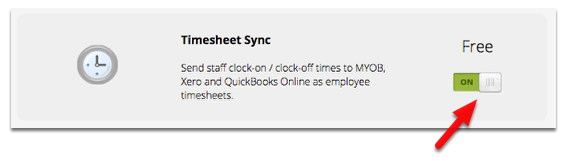 how to send clock on out times to xero myob or quickbooks as