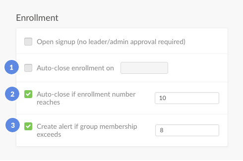 enrollement section
