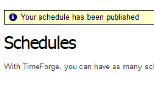 Create and Post a Schedule in TimeForge