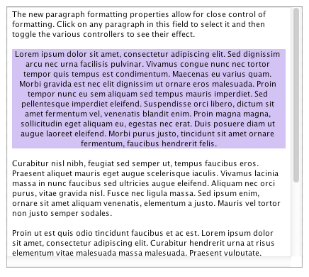 Highlight our paragraph (backgroundColor property)