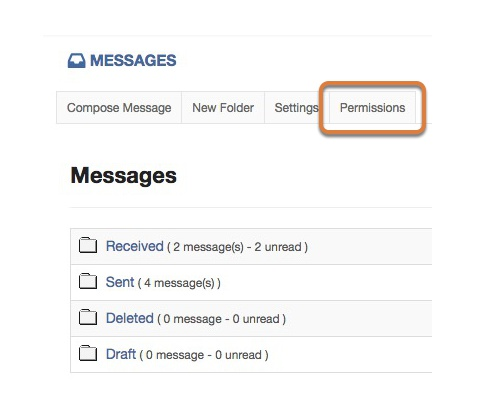Changing message permissions