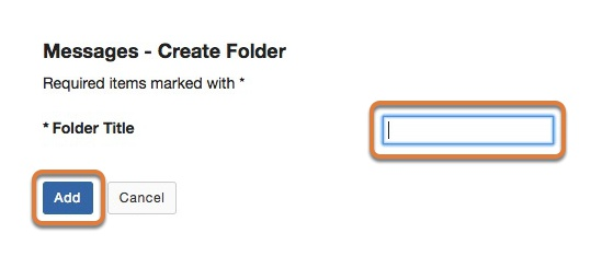 Enter the folder title and add the folder
