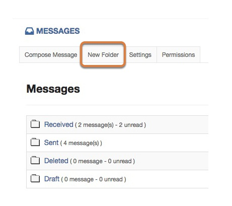 Creating a messages folder