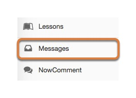 Accessing the Messages tool via the tools menu in the site