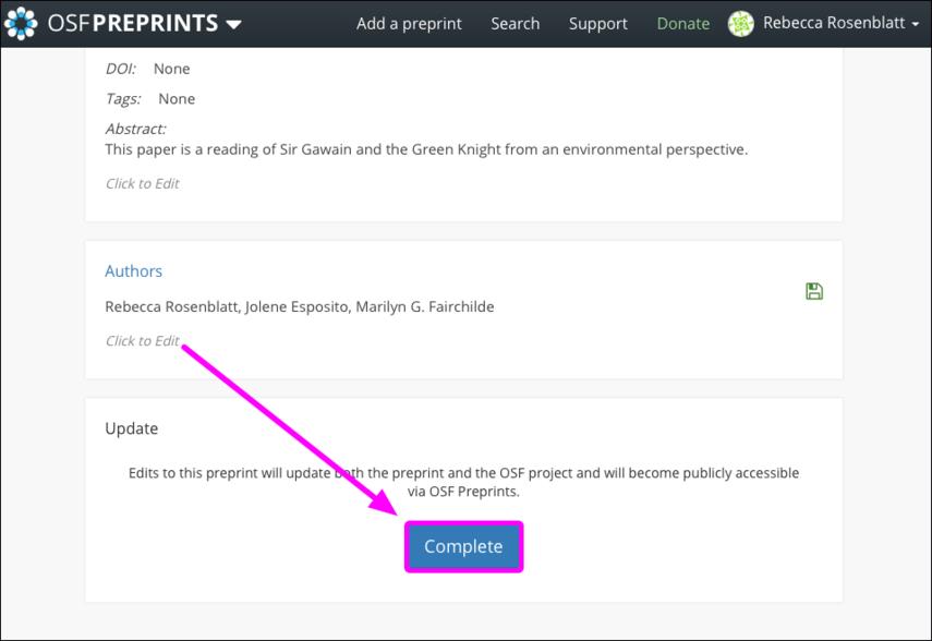 Update Your Preprint