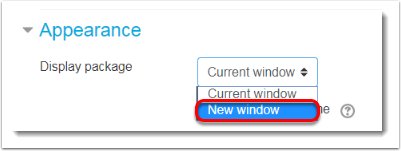 New window is selected.