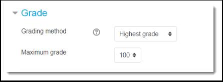 Grade settings.