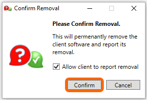 Windows: Confirm Removal