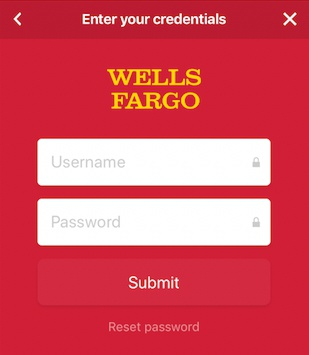 log in to bank