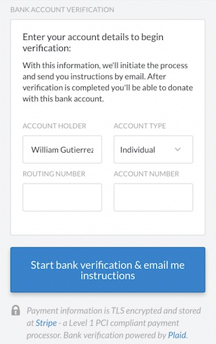 enter routing and account number
