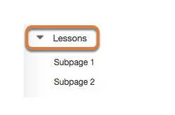 Accessing the lesson subpage