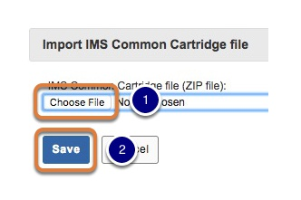 Select the file for import