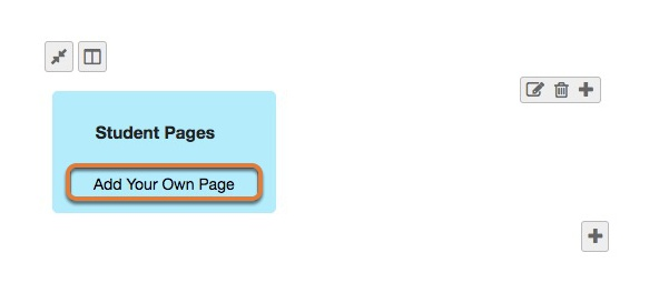 Adding student content to lesson pages
