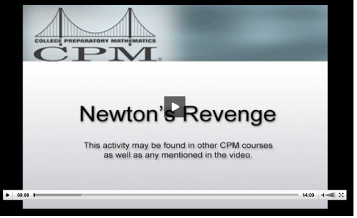 This video shows students working through the Newton's Revenge activity.