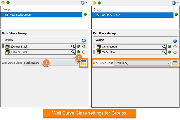 Define well curve class for group
