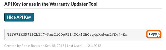 Copy Watchman Monitoring API Key