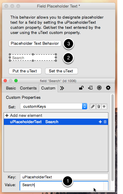 Setting the Placeholder Text
