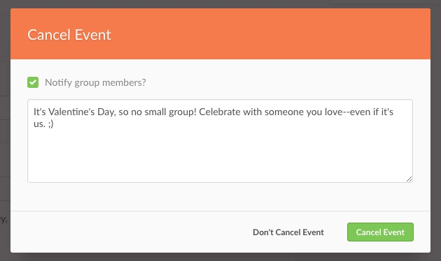 notify group members