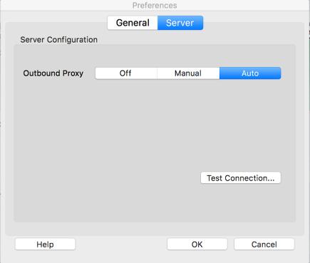 The server tab dialog box
