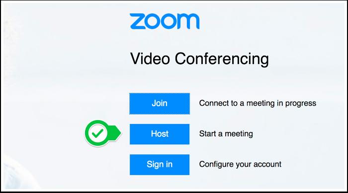 Zoom Splash Page