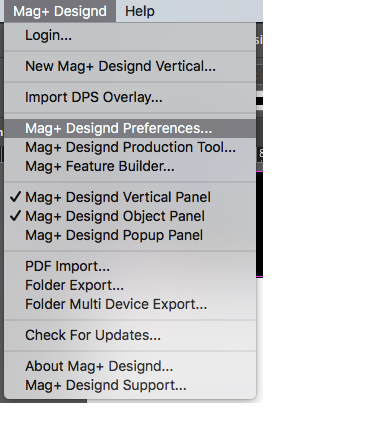 Configuring the Mag+ InDesign Plugin