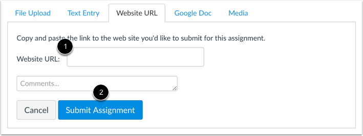Submit a Website URL