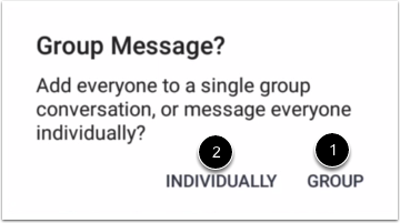 Select Multiple Recipients Message Type