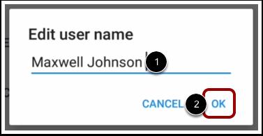 Change User Name