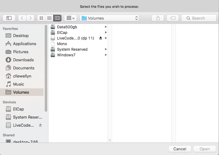 The Ask File Dialog