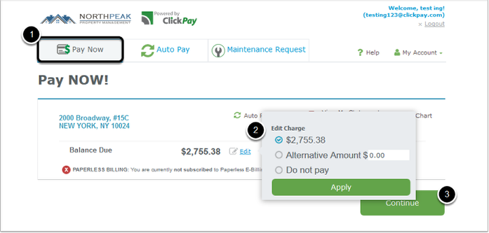 Questions about one time payments – ClickPay