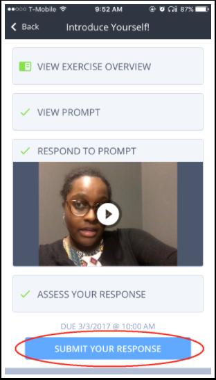 Submit Response Mobile