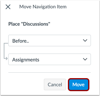 Move Navigation Item