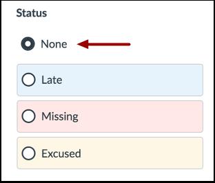 Select No Status