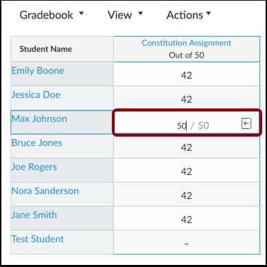 View New Grades