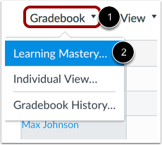Open Learning Mastery Gradebook