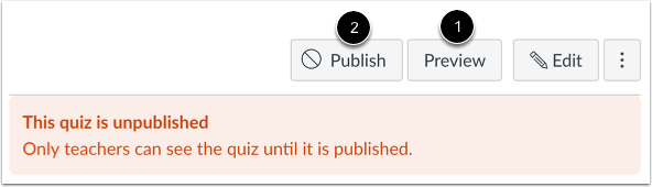 Preview and Publish Quiz
