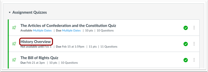 Once I Publish A Quiz What Kinds Of Quiz Stati Canvas Lms