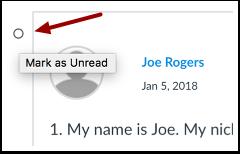 Mark Post as Unread