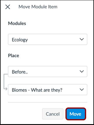 Move Module Item