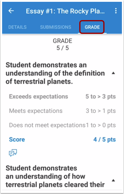 View Assignment Rubric and Grade
