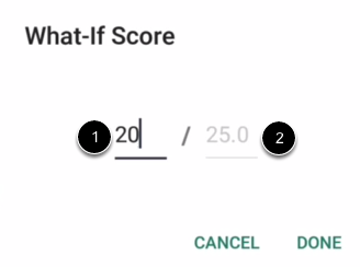 Enter What-If Score