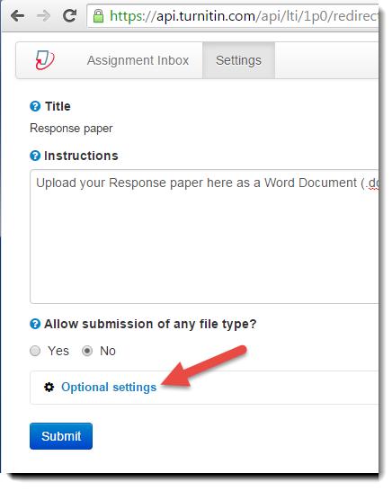 Optional settings tab is selected.