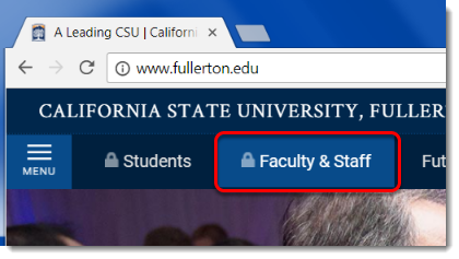 Faculty & Staff button is selected.