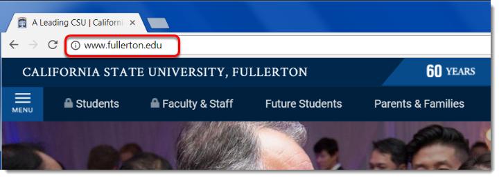 fullerton.edu webpage