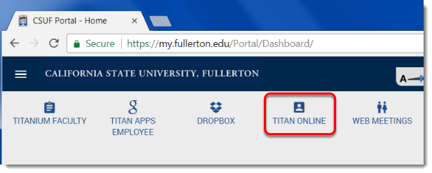 Titan Online button is selected.