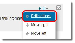 Edit settings link is selected.